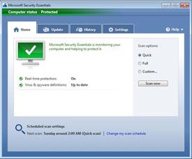 darmowy antywirus Microsoft Security Essentials